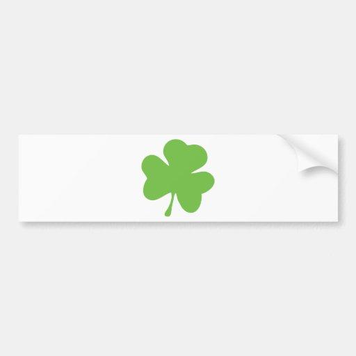 green shamrock bumper sticker