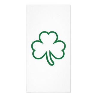 Green shamrock card