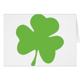 green shamrock greeting card