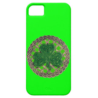 Green Shamrock & Celtic Knots iPhone 5 Case