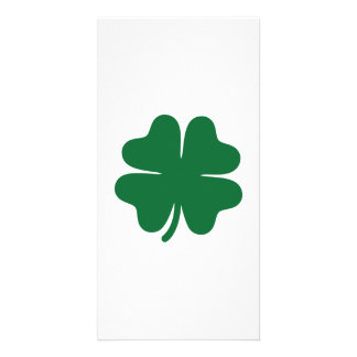 Green shamrock clover card