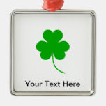 Green Shamrock Clover for St. Patrick's Day Christmas Ornaments