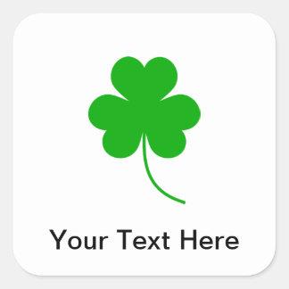 Green Shamrock Clover for St. Patrick's Day Square Sticker