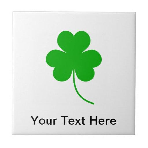 Green Shamrock Clover for St. Patrick's Day Tiles