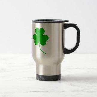 Green Shamrock Clover for St. Patrick's Day Travel Mug