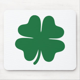 Green shamrock clover mouse pad