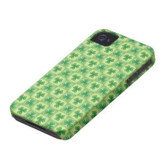 Green shamrock clover pattern lucky iPhone 4 case