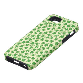 Green shamrock clover pattern lucky iPhone 5 case