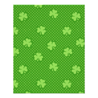 Green Shamrock Clover Pattern Saint Patricks Day Flyer