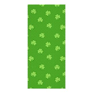 Green Shamrock Clover Pattern Saint Patricks Day Rack Card
