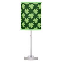 Green Shamrock Clover Polka dots pattern Table Lamp