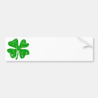Green Shamrock Clover   St Patricks Day Bumper Sticker