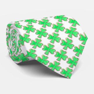 Green Shamrock Clover St. Patrick's Day Lucky Tie