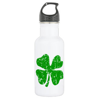 Green Shamrock Clover   St Patricks Day 18oz Water Bottle