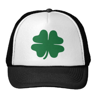 Green shamrock clover trucker hat