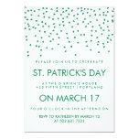 Green Shamrock Confetti on White St Patrick's Day Card