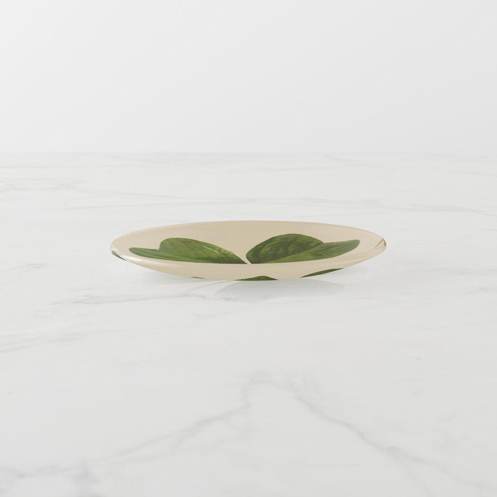 Green Shamrock Design on Custom Color
