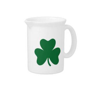 Green shamrock drink pitcher