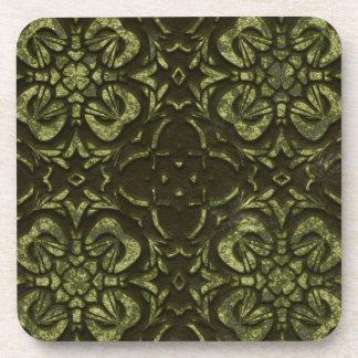 Green Shamrock Faux Stone Coasters