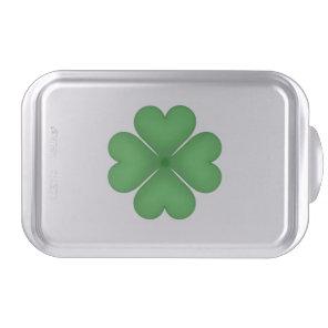 Green Shamrock Four leaf Clover Hearts Cake Pan