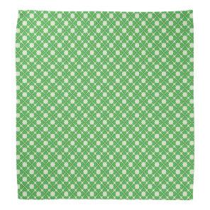 Green Shamrock Four leaf Clover Hearts pattern Bandana