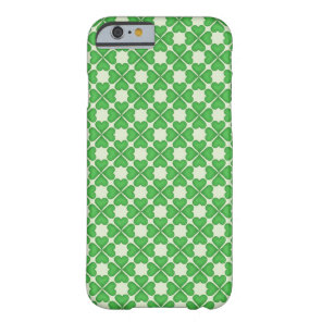 Green Shamrock Four leaf Clover Hearts pattern Barely There iPhone 6 Case