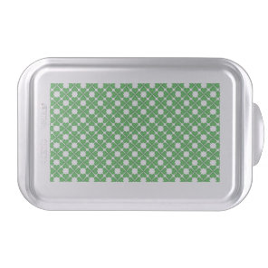Green Shamrock Four leaf Clover Hearts pattern Cake Pan