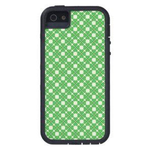 Green Shamrock Four leaf Clover Hearts pattern Case For iPhone SE/5/5s