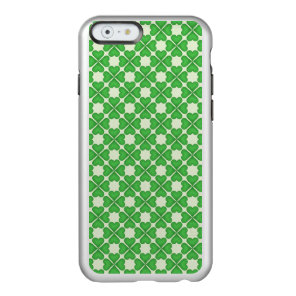 Green Shamrock Four leaf Clover Hearts pattern Incipio Feather Shine iPhone 6 Case