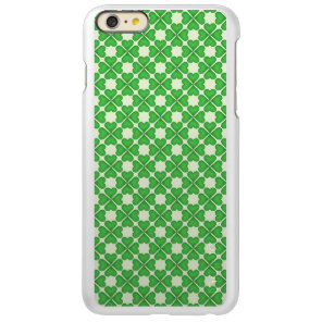 Green Shamrock Four leaf Clover Hearts pattern Incipio Feather Shine iPhone 6 Plus Case
