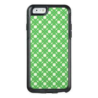 Green Shamrock Four leaf Clover Hearts pattern OtterBox iPhone 6/6s Case