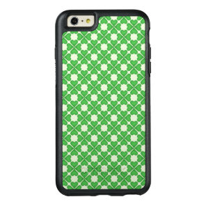 Green Shamrock Four leaf Clover Hearts pattern OtterBox iPhone 6/6s Plus Case