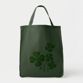 Green Shamrock From Ireland Tote Bags