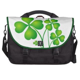Green Shamrock From Ireland Commuter Bags