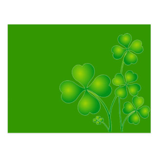 Green Shamrock From Ireland Postcard