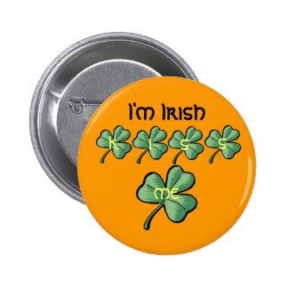 green shamrock, green shamrock, green shamrock,... 2 inch round button