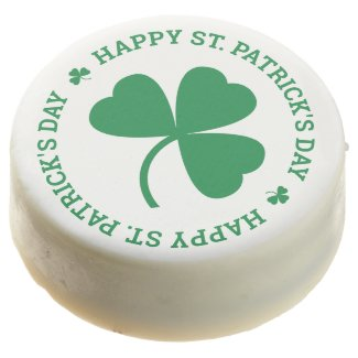 Green Shamrock Happy St. Patrick's Day Chocolate Covered Oreo