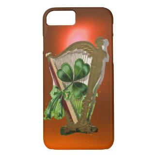 GREEN SHAMROCK HARP orange iPhone 8/7 Case