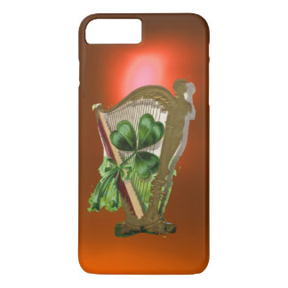 GREEN SHAMROCK HARP orange iPhone 8 Plus/7 Plus Case