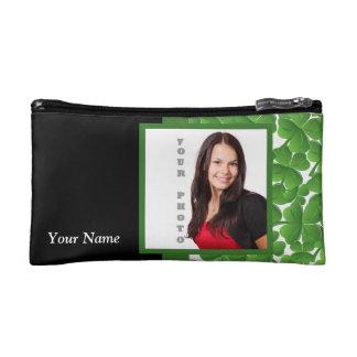 Green shamrock instagram template cosmetic bag