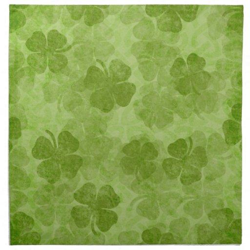 Green Shamrock Irish Cloth Napkins