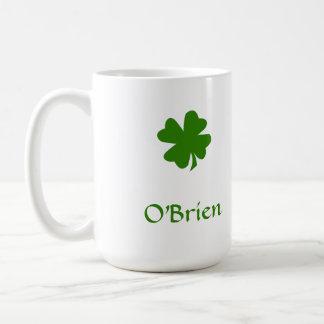 Green shamrock Irish heritage custom name drinking Coffee Mug