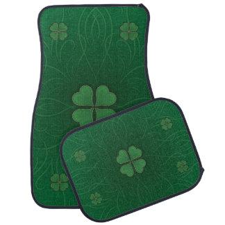 Green Shamrock Irish Style Car Mat