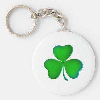 Green shamrock key chain