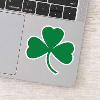 Green Shamrock Leaf St. Patrick's Day Sticker