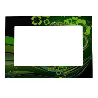 Green shamrock love magnetic frame