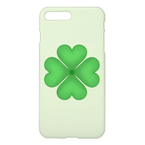 Green Shamrock Lucky Four leaf Clover Hearts iPhone 8 Plus/7 Plus Case