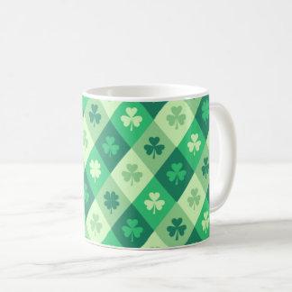 Green Shamrock Lucky Saint Patricks Day Fun Coffee Mug