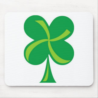 Green Shamrock Mouse Pad