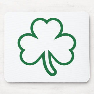 Green shamrock mouse pad